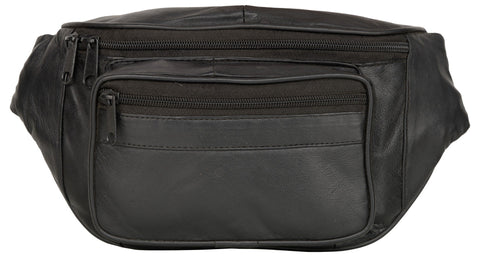 Black Color Leather Unisex Travel Bag - 220BLACK