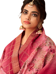 Pink Color Satin Women's Semi Stitched Salwar Suit - SL-2363
