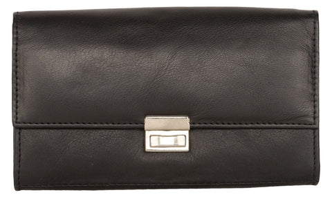 Black Color Leather Womens Wallet - 239-A