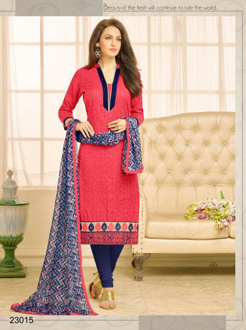 Peach Color Chanderi UnStitched Salwar  - 23AKS23015
