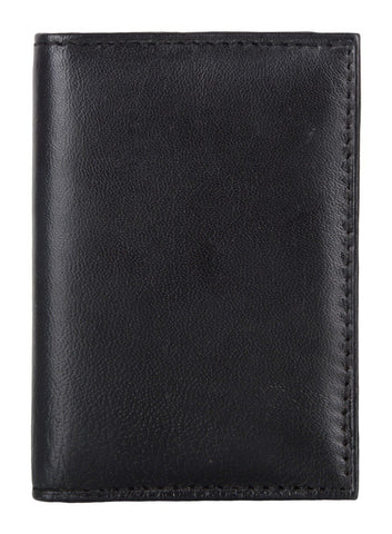 Black Color Leather Credit Card Holder - 23BLACK