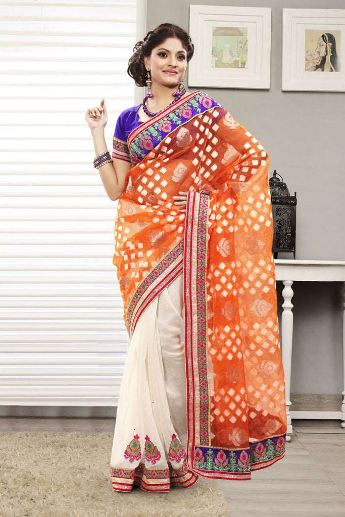 Multi Color Jacquard Saree