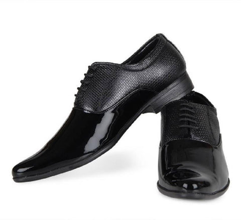 Black Color Patent Leather Shoes - 2510-BLACK