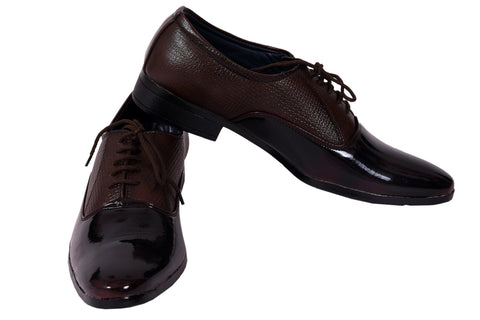 Brown Color Patent Leather Formal Shoe - 2510Wine