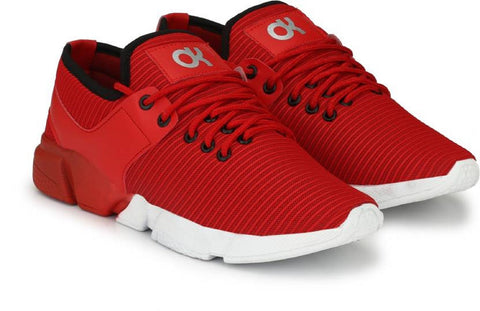 Red Color Mesh Running  Shoe - 2712Red