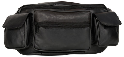 Black Color Leather Unisex Travel Bag - 289BLACK