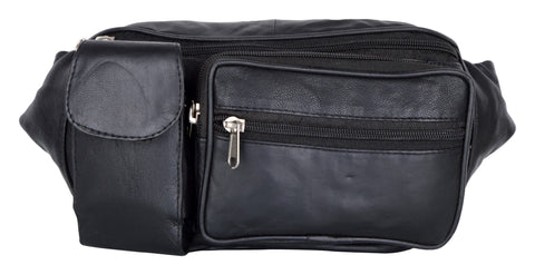 Black Color Leather Unisex Travel Bag - 290BLK