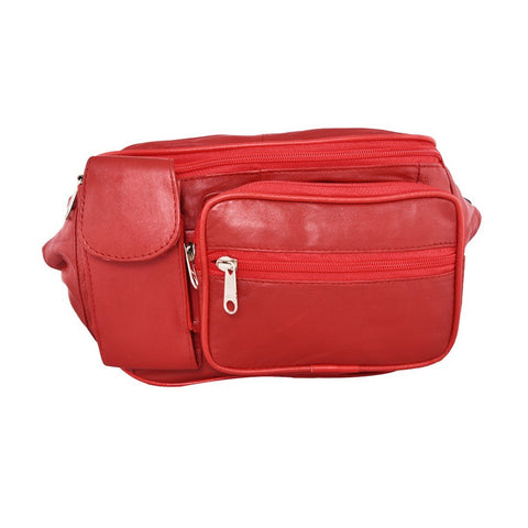 Red Color Leather Unisex Travel Bag - 290RED