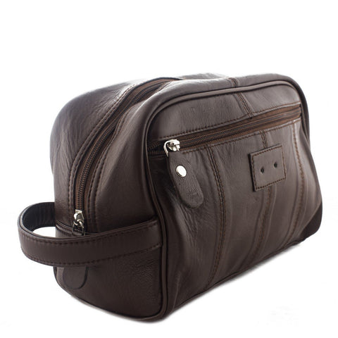 Brown Color Leather Mens Toiletry Bag - 292BRN