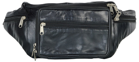 Black Color Leather Unisex Travel Bag - 294BLK