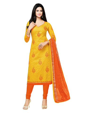 Yellow Color Cotton UnStitched Salwar  - 2MTS96012