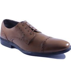 Tan Color Leather Men Shoe - HWTQBL1
