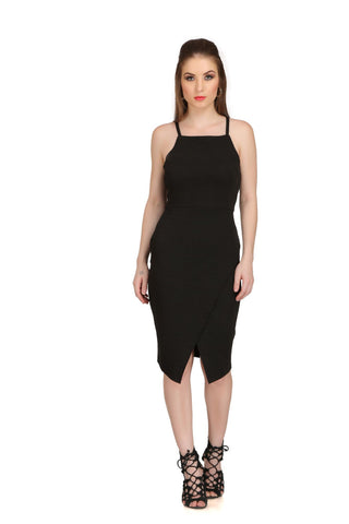 Black Color Poly Cotton Dress - 2sis201-10