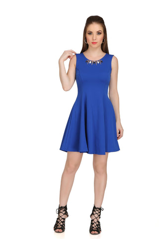 Blue Color Poly Cotton Dress - 2sis210A-20