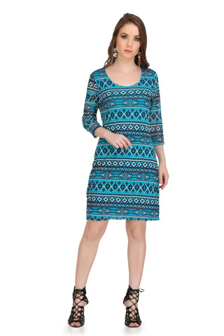 Blue Color Poly Cotton Dress - 2sis221A-20