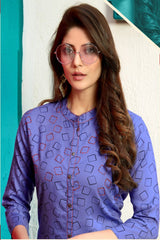 Lavender Color Rayon Stitched Kurti  - SW3-3004