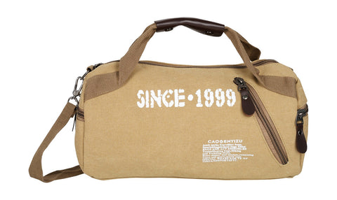 Beige Color Canvas Mens Duffel Bag - 31013CANVAS-BI