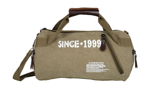 Grey Color Canvas Mens Duffel Bag - 31013CANVAS-GR
