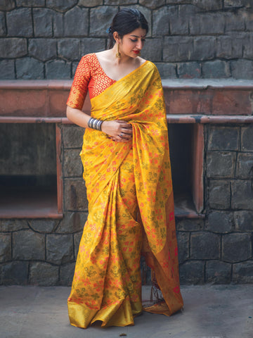 Yellow Color Patola Silk Women's Saree - 31767