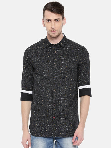 Black Color Cotton Men's Shirt - 352B