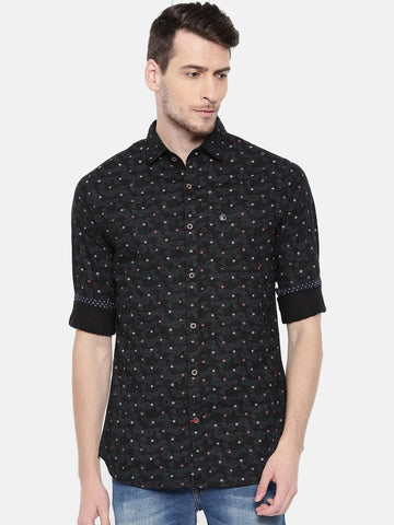 Black Color Cotton Men's Shirt - 353A