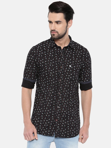 Black Color Cotton Men's Shirt - 355A