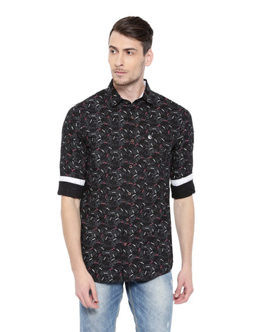 Black Color Cotton Men's Shirt - 356A