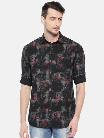 Black Color Cotton Men's Shirt - 358C
