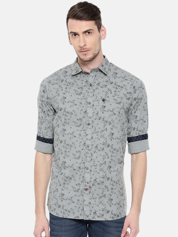 Grey Color Cotton Men's Shirt - 359C