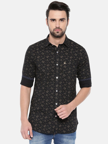 Black Color Cotton Men's Shirt - 361C