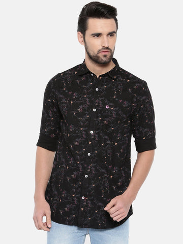Black Color Cotton Men's Shirt - 362A