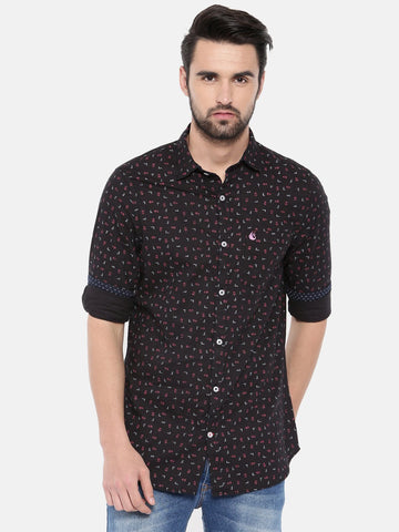 Black Color Cotton Men's Shirt - 364A