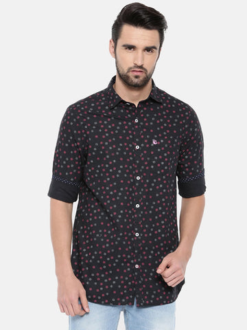 Black Color Cotton Men's Shirt - 367A