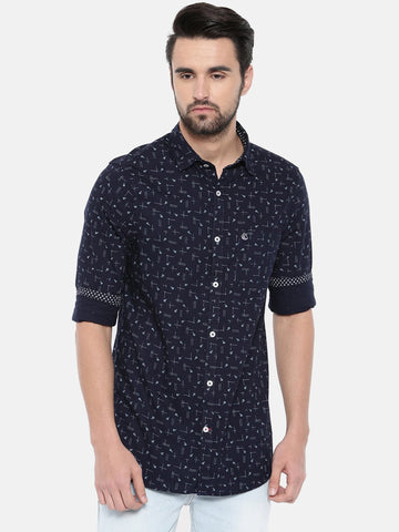 Black Color Cotton Men's Shirt - 368A