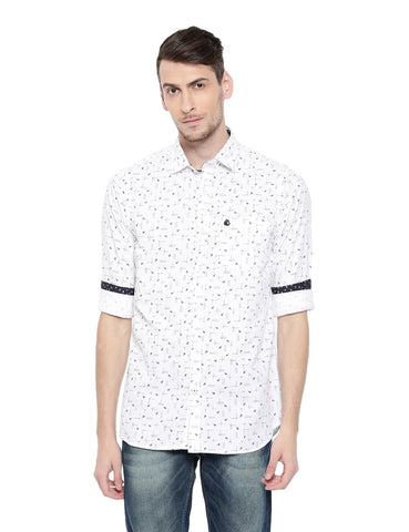 White Color Cotton Men's Shirt - 368C