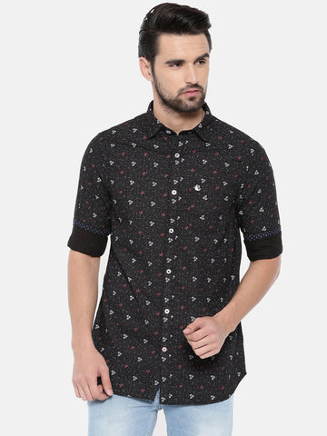 Black Color Cotton Men's Shirt - 369B