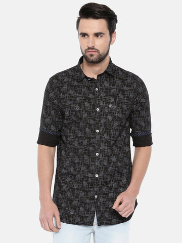 Black Color Cotton Men's Shirt - 371B