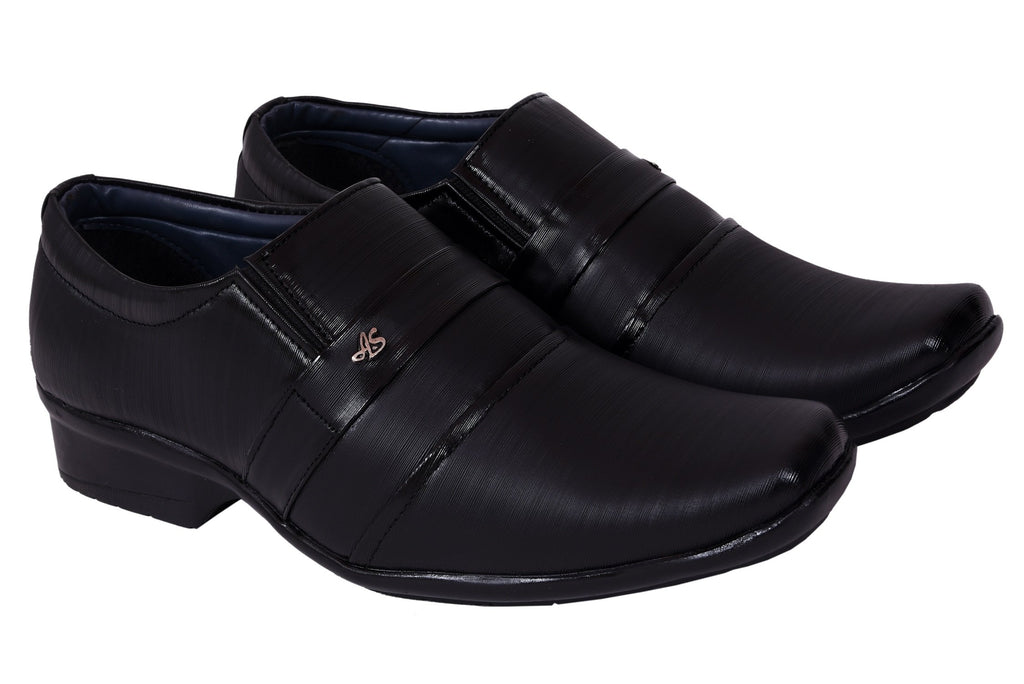 Buy Black Color Synthetic Leather Formal Shoe