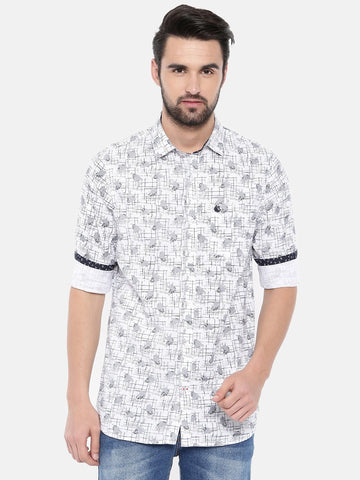 White Color Cotton Men's Shirt - 371C