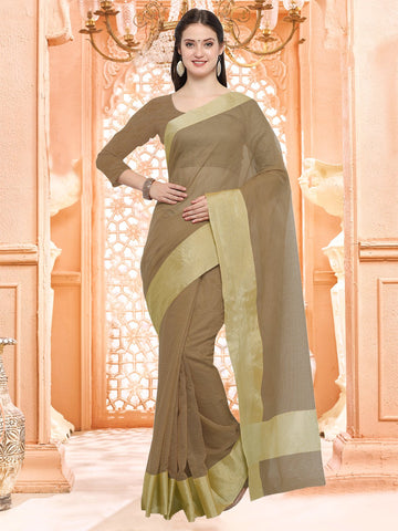 Brown Color Linen Silk Saree - 3LNN303