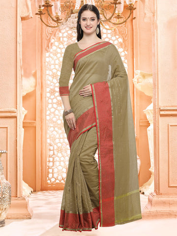 Brown Color Linen Silk Saree - 3LNN309