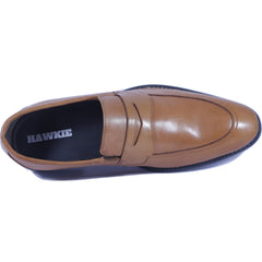 Tan Color Leather Men Shoe - HWTL1