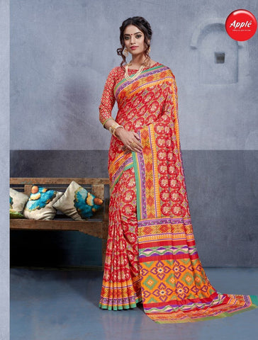 Multi Color Dhakai Silk Saree - 3DHKIS7603