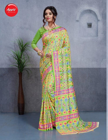 Light Green Color Dhakai Silk Saree - 3DHKIS7606