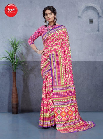 Baby Pink Color Dhakai Silk Saree - 3DHKIS7607