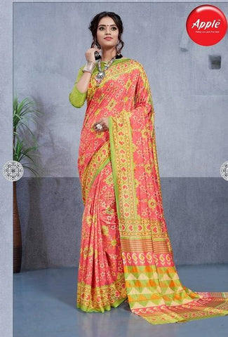 Pink Color Dhakai Silk Saree - 3DHKIS7608