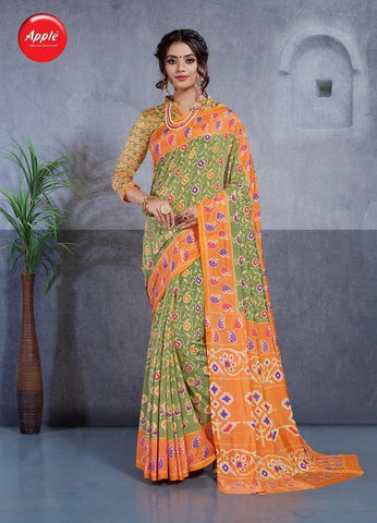 Green Color Dhakai Silk Saree - 3DHKIS7609