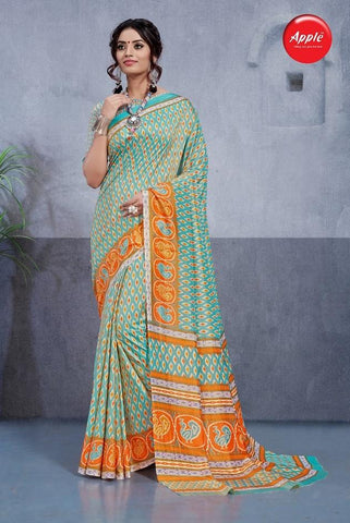 Sky Blue Color Dhakai Silk Saree - 3DHKIS7611