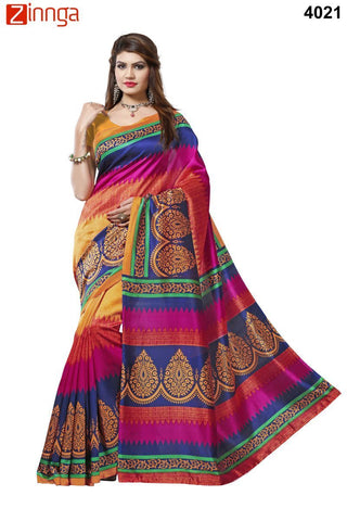 Multi Color Bhagalpuri Sarees - 4021