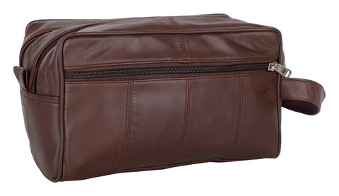 Brown Color Leather Mens Toiletry Bag - 41BRN